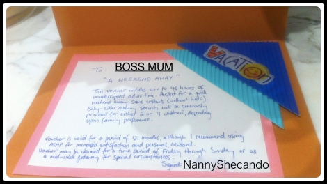 Boss Mum's Birthday Gift Voucher