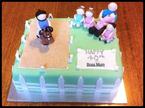 The Dressage Themed Birthday Cake