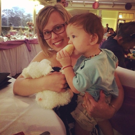 I finally met this little guy! #family #cutie #cousins