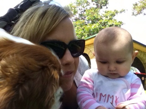 Fun time in the park! #hotsummerday #family #puppylove