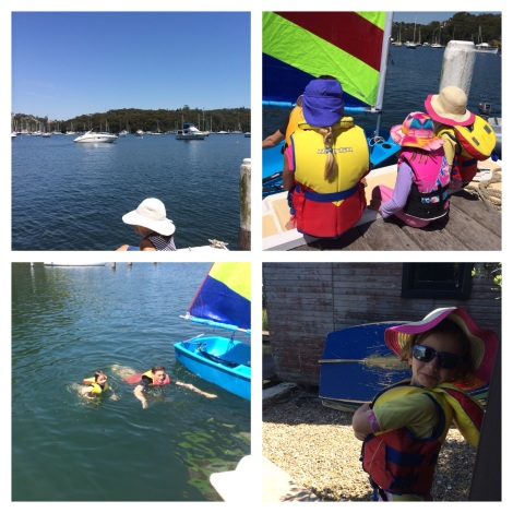 Miss Charlie & friends having a sailing lesson! #sydney #summersday