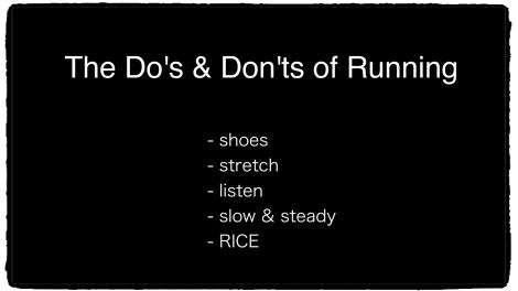 Running Do's & Don'ts