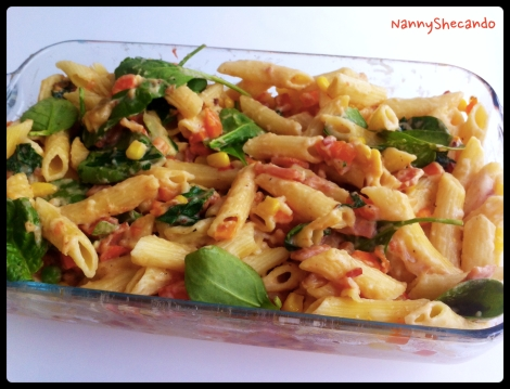 Bacon & Veggie Pasta Bake