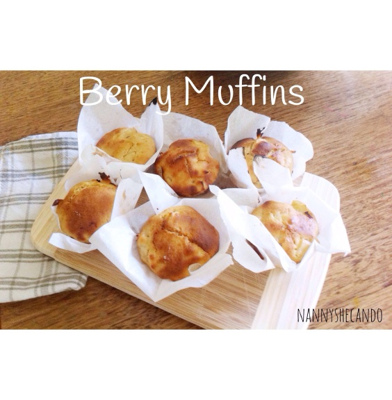 muffins, berry, baking, snacks