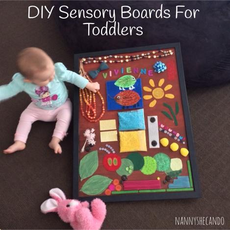 DIY Sensory Board NannyShecando